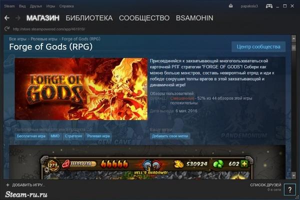 Описание игр на Steam